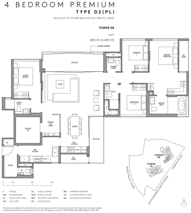 Martin Modern Floor Plans 4 Bedroom Type D2