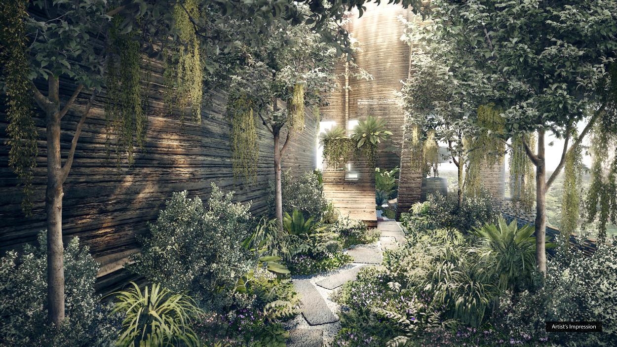 Martin Modern Site Layout . Garden
