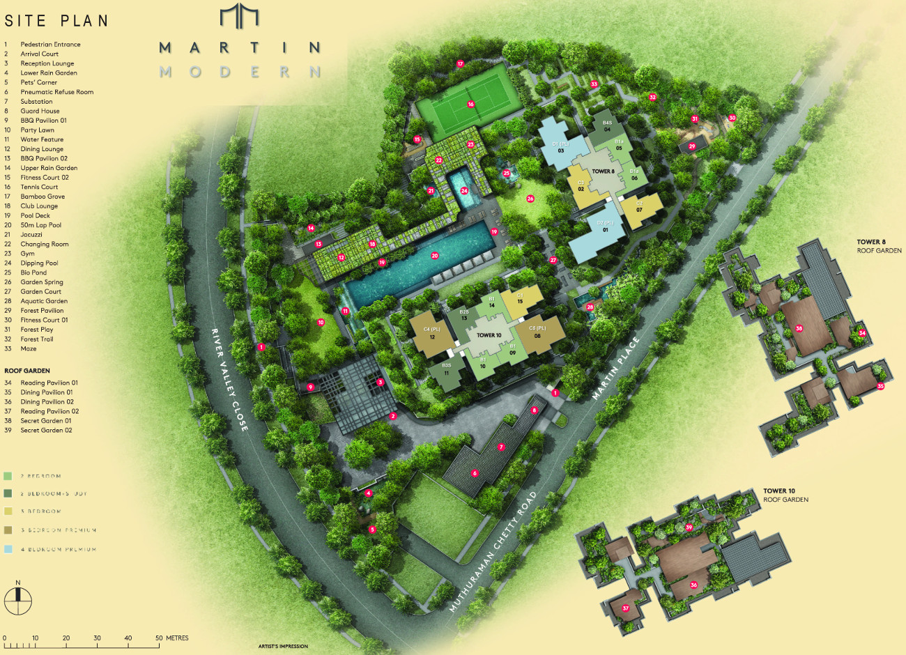 Martin Modern Site Plan Layout
